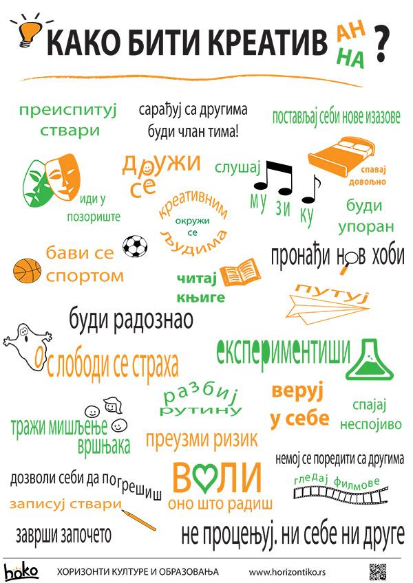 Poster: Kako biti kreativan