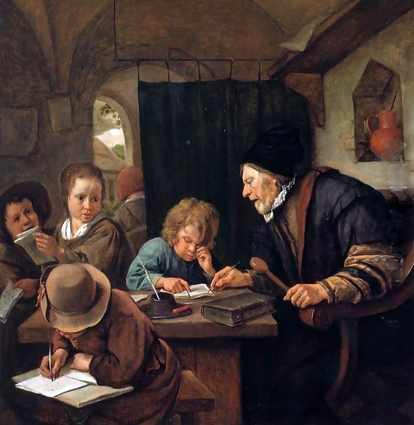 1667  Jan Havicksz. Steen - The strict schoolmaster