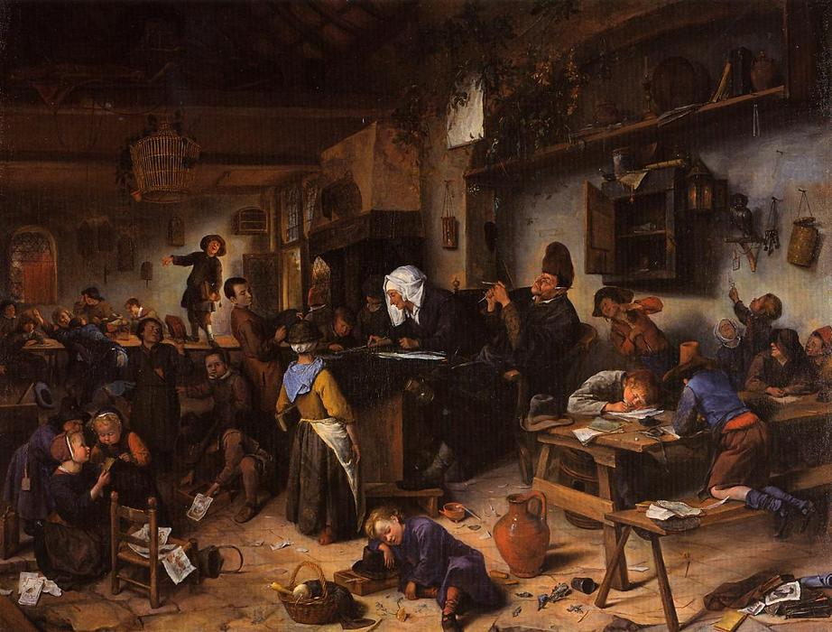4 jan-havicksz-steen_escuela-pueblo-ca-1670-