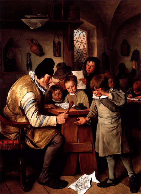 Jan Steen,  De Schoolmeester (1663)